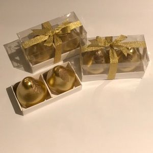 Gold Pear Shaped Candles